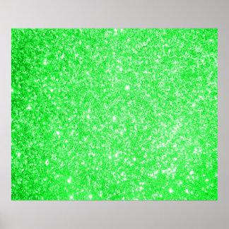 Glitter Green Posters