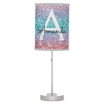 Glitter Green Purple Blue Name Table Lamp
