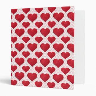 Glitter Heart Basic 1 Red 3 Ring Binders