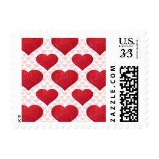 Glitter Heart Basic 1 Red Postage