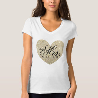 Glitter Heart Fab future Mrs. shirt