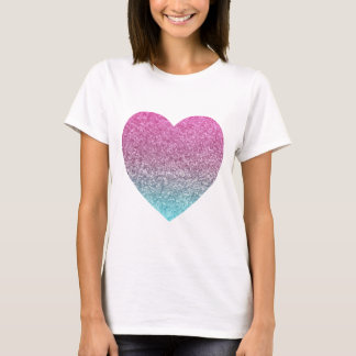 Glitter Heart Purple/Blue T-Shirt
