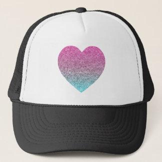Glitter Heart Purple/Blue Trucker Hat