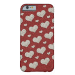 Glitter hearts iPhone 6 case