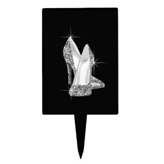 Glitter High Heel Shoe Cake Topper