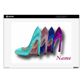 Glitter High Heel Shoes Fashion Laptop skin