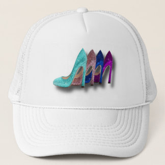 Glitter High Heel Shoes Fashion Shirts Trucker Hat