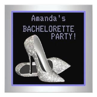 Glitter High Heels Purple Bachelorette Party Card