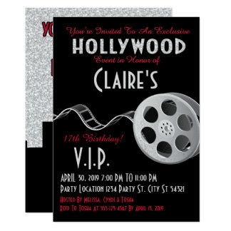 hollywood theme birthday party invitations & announcements | zazzle, Party invitations