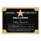 Glitter Hollywood Sweet 16 Birthday Invitation