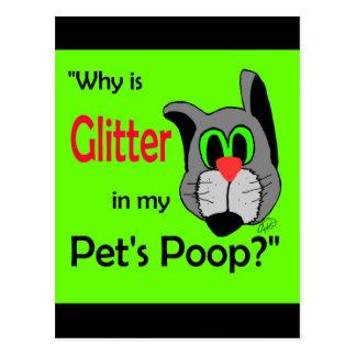 Glitter in Pets Poop Postcard