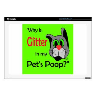Glitter in Pets Poop Laptop Decal