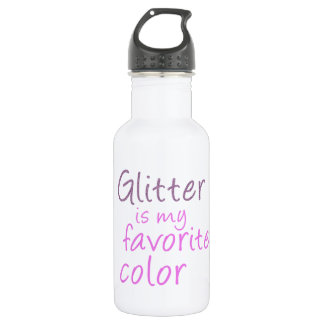 Glitter is my favorite color. stainless steel water bottle