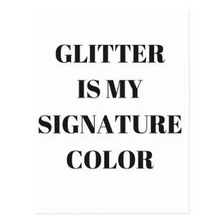 Glitter Is My....Humor Text Illustration Design Postcard