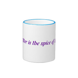 Glitter is the spice of life! ringer coffee mug