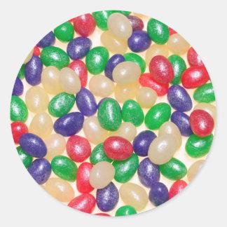 Glitter Jelly Bird Eggs Photograph Classic Round Sticker