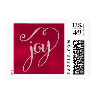 Glitter Joy Holiday Postage
