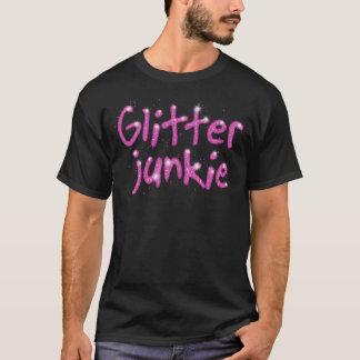 Glitter Junkie pink sparkle T-shirt