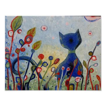 Art Themed Glitter Kitty Poster
