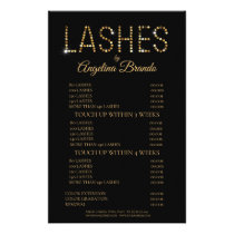 Glitter Lashes Eyelash Extensions Black Price List Flyer
