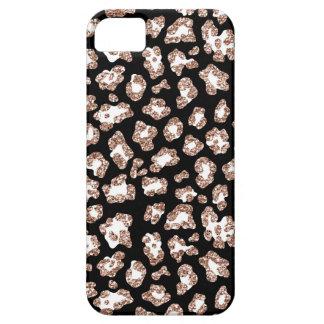 Glitter Leopard phone case