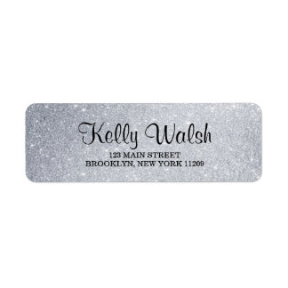 Glitter Lights Sweet 16 Return Address Labels