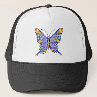 Glitter look butterfly trucker hat