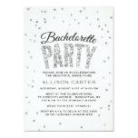 Glitter Look Confetti Bachelorette Party 5x7 Paper Invitation Card