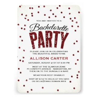 Glitter Look Confetti Bachelorette Party Announcement