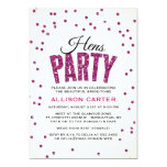 Glitter Look Confetti Hens Party Personalized Invite