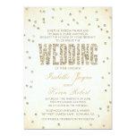 Glitter Look Confetti Wedding Invitation