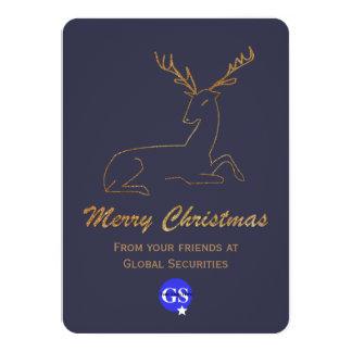 Glitter Look Deer Corporate Christmas Card