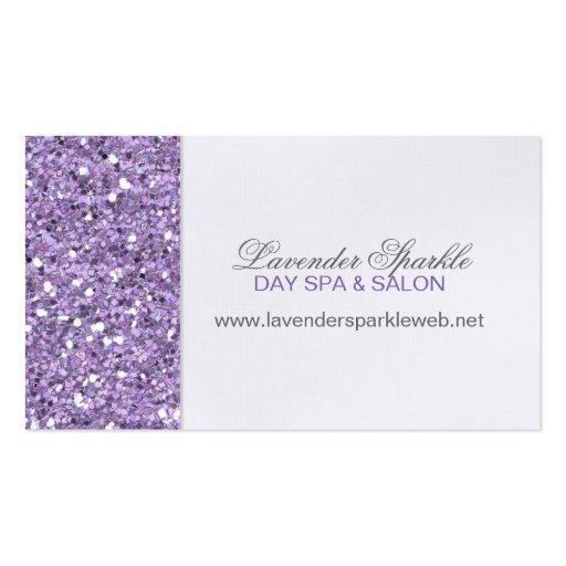 Glitter Look Lavender Business Card