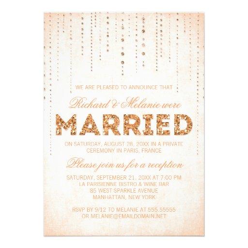 Personalized Sparkle Wedding Invitations