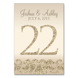Glitter Look Wedding Table Numbers-Table Card 22