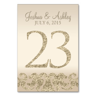 Glitter Look Wedding Table Numbers-Table Card 23 Table Card