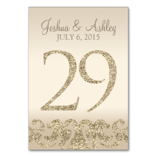 Glitter Look Wedding Table Numbers-Table Card 29