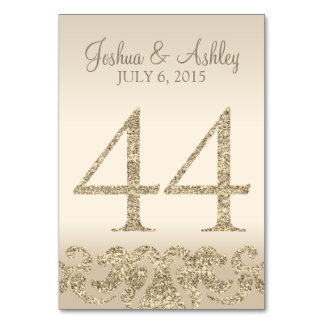 Glitter Look Wedding Table Numbers-Table Card 44