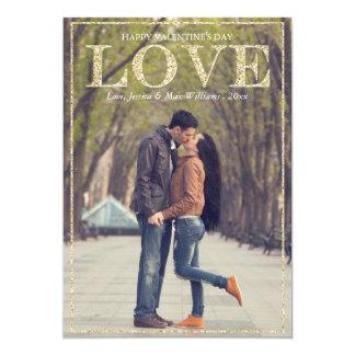 "Glitter Love Valentine's Day Cards 5"" X 7"" Invitation Card"