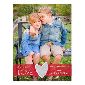 Glitter Love Valentine's Day Postcard