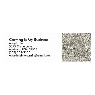 Glitter Macro Crafting Business Card Templates