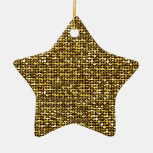 Glitter Magic Star Ornament Ceramic Star Ornament