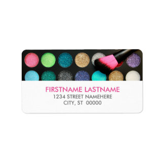 Glitter Makeup Address Labels