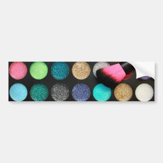 Glitter Makeup Bumper Sticker