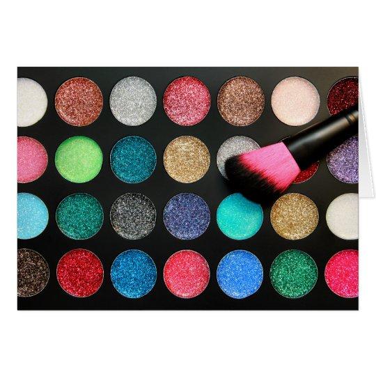 Glitter Makeup Card