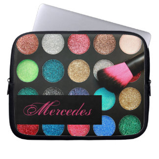 Glitter Makeup Laptop Sleeve Personalized