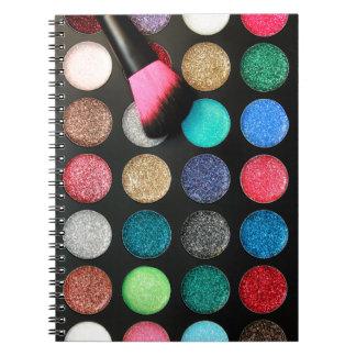 Glitter Makeup Notebook