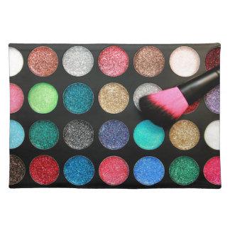 Glitter Makeup Placemat