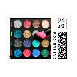 Glitter Makeup Postage Stamps
