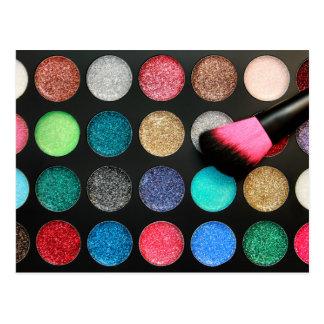 Glitter Makeup Postcard